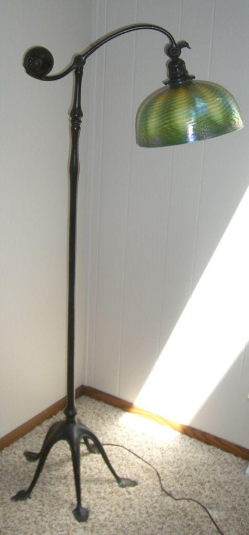 Genuine, antique Tiffany Studios floor lamp. It has a