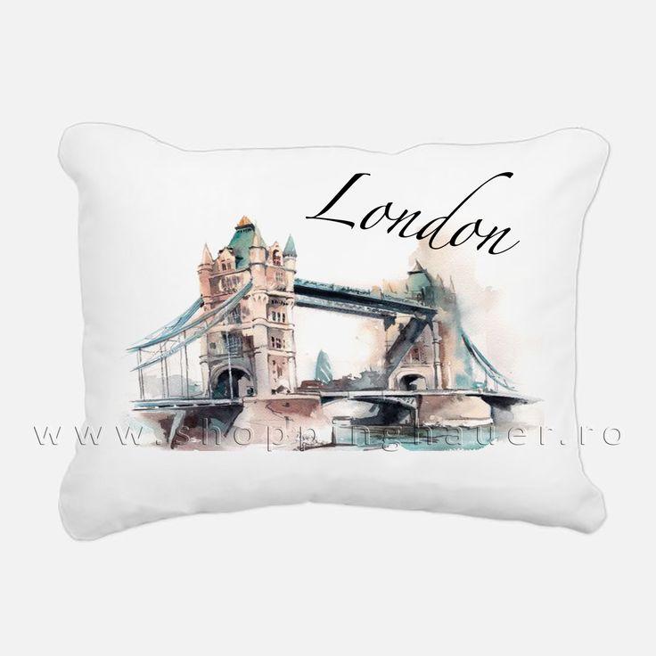 pernuta decor LONDON. 40 x 40 cm. Deco pillow London.