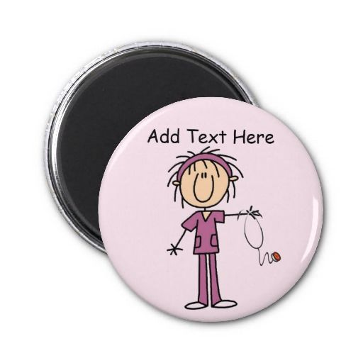 White Female Stick Figure Nurse T-shirts and Gift Fridge Magnets Click on photo to purchase. Check out all current coupon offers and save! http://www.zazzle.com/coupons?rf=238785193994622463&tc=pin