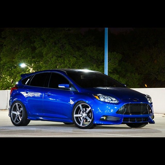 amazing blue ford focus st mk3 big silver rims st from usa