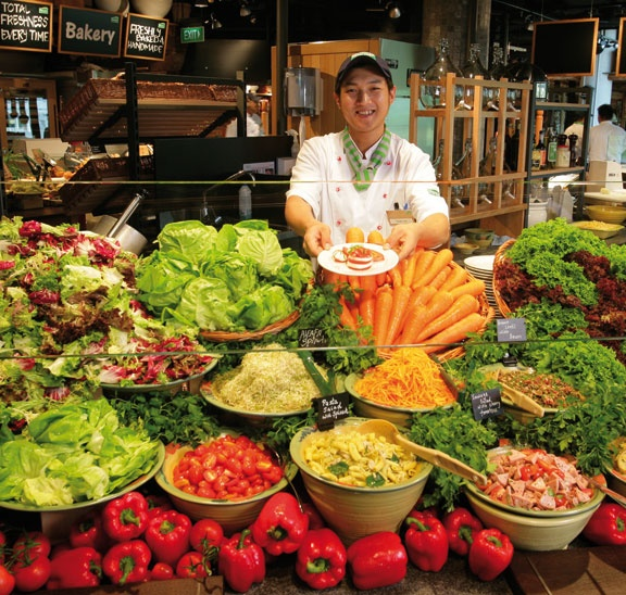 Salad! Vegetables! Vegetables and Salad! Its nutrients Galore @ Marche, Singapore.