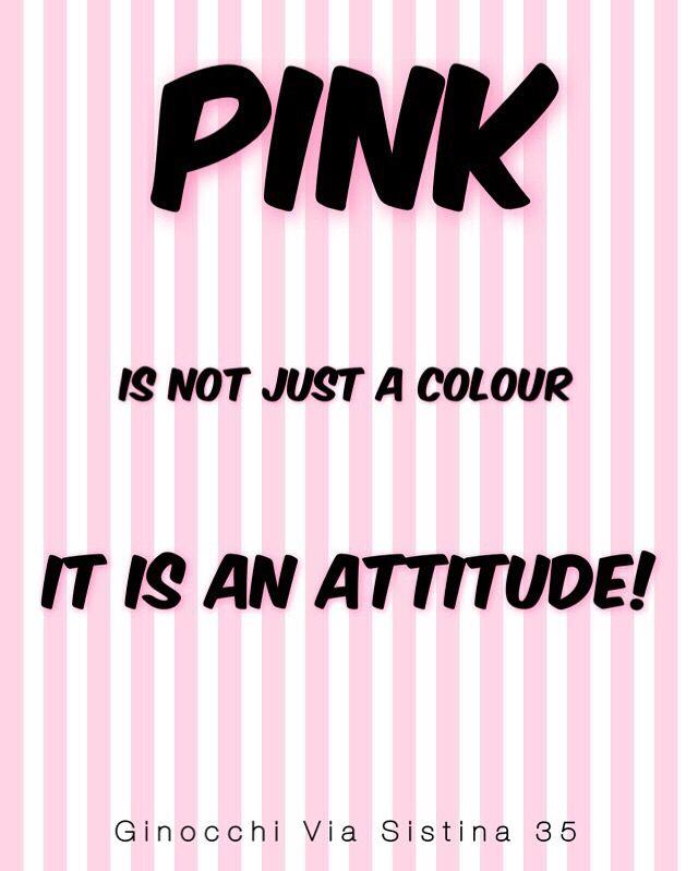 Pink attitude! Pink fashion!