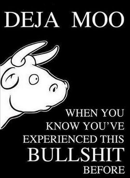 Oh I have Deja Moo on a daily basis! | http://www.warmpixie.com