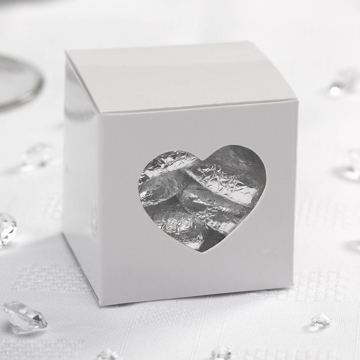 Contemporary Heart - Favour Box- Weddings