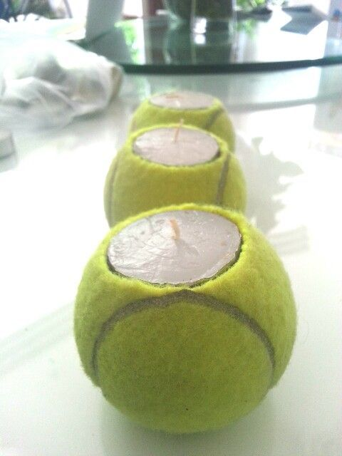 "Turn old tennis balls into these indoor or outdoor candles! #tennisdecoration #tennisideas #tennisdiy #diy #tennis Buy tennis balls ---> <a href=""http://www.tenniswarehouse-europe.com/Tennis_Balls.html?lang=en&vat=GR&from=tnewsgr"">link</a>."