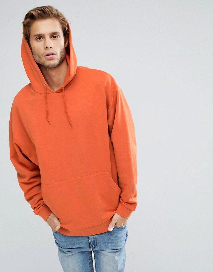 ASOS Oversized Hoodie in Orange - Orange