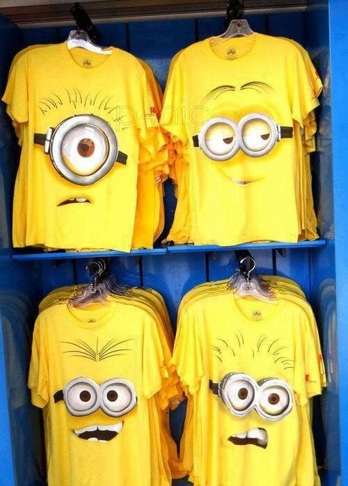 Minion shirts.. I love Minions!!