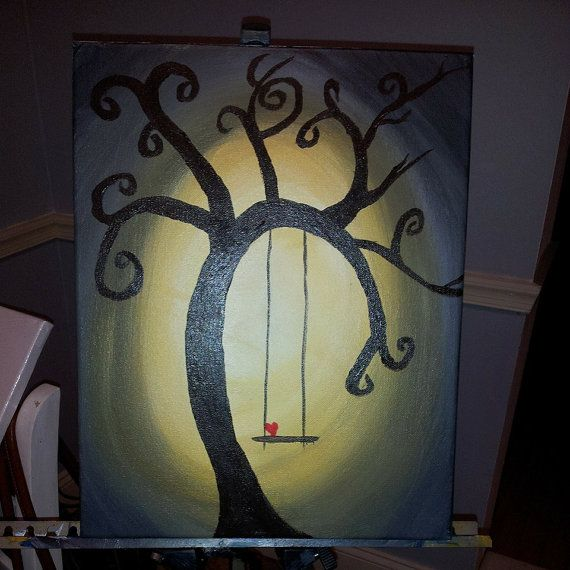 Acrylic Tree Swing Painting by NikiStix on Etsy, $15.00 SOLD