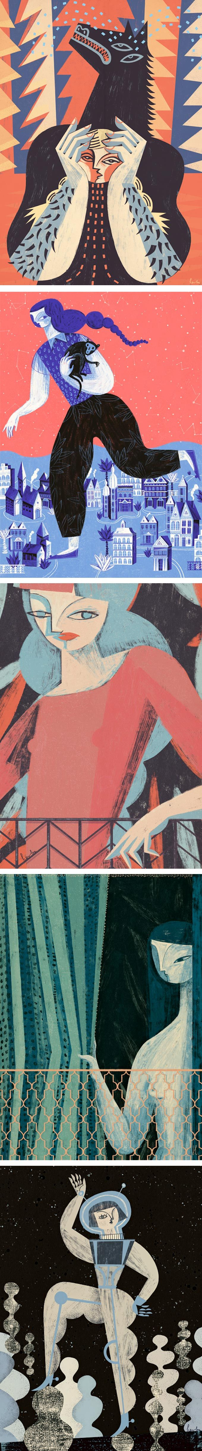 Gosia Herba Keeps Cubism Alive and Well in Her Illustrations