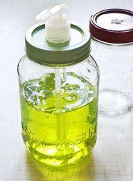 Mason jar soap dispensers -