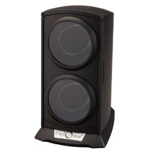 Diplomat 31-497 Matte Black Finish Watch Winder Diplomat. $49.95. Four different program settings. Clockwise, auto swap or counter-clockwise rotations. included AC adapter power 110-240V. Winds 2 watches on its own individual motor. 1 Year Warranty. Save 50% Off!