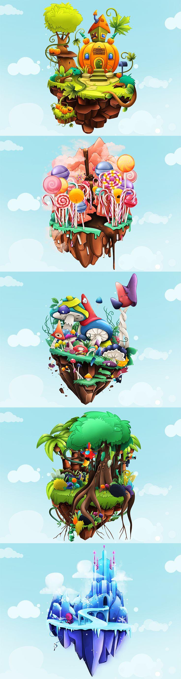 Dribbble - Floating_Islands2.jpg by Andra Popovici