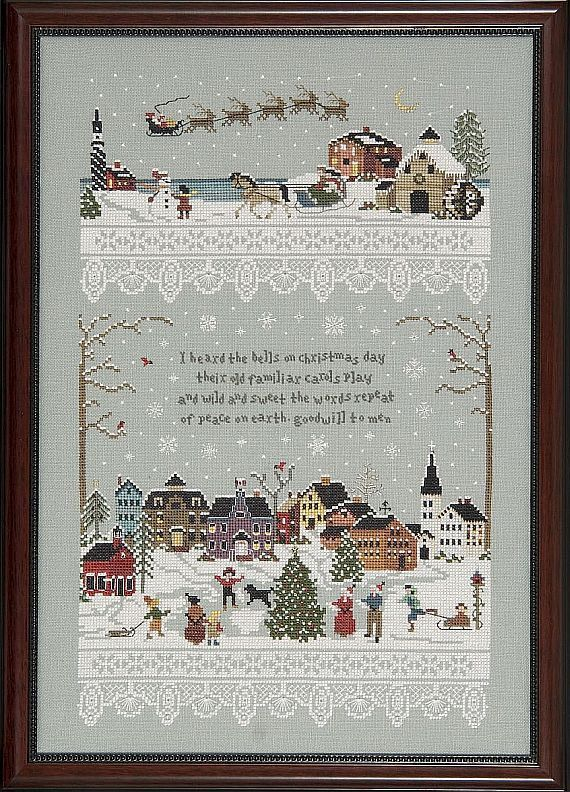 A Victoria Sampler Design Christmas by GoldenThreadSupplies, $80.00