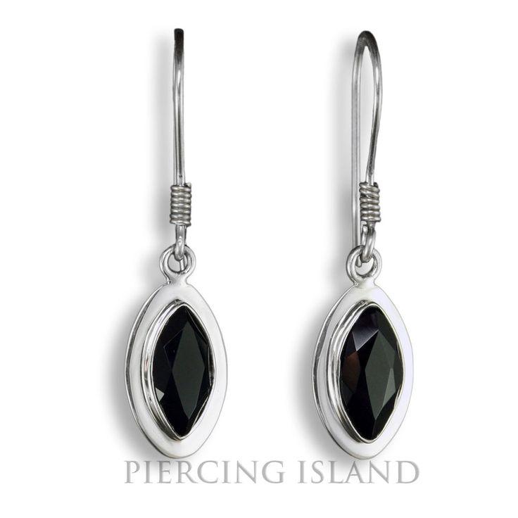 Exclusive Onyx Ohrringe ECHT Silber Design Schmuck SER223
