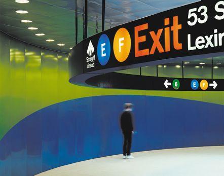 53rd & Lex Subway Signage. Designed by Massimo Vignelli