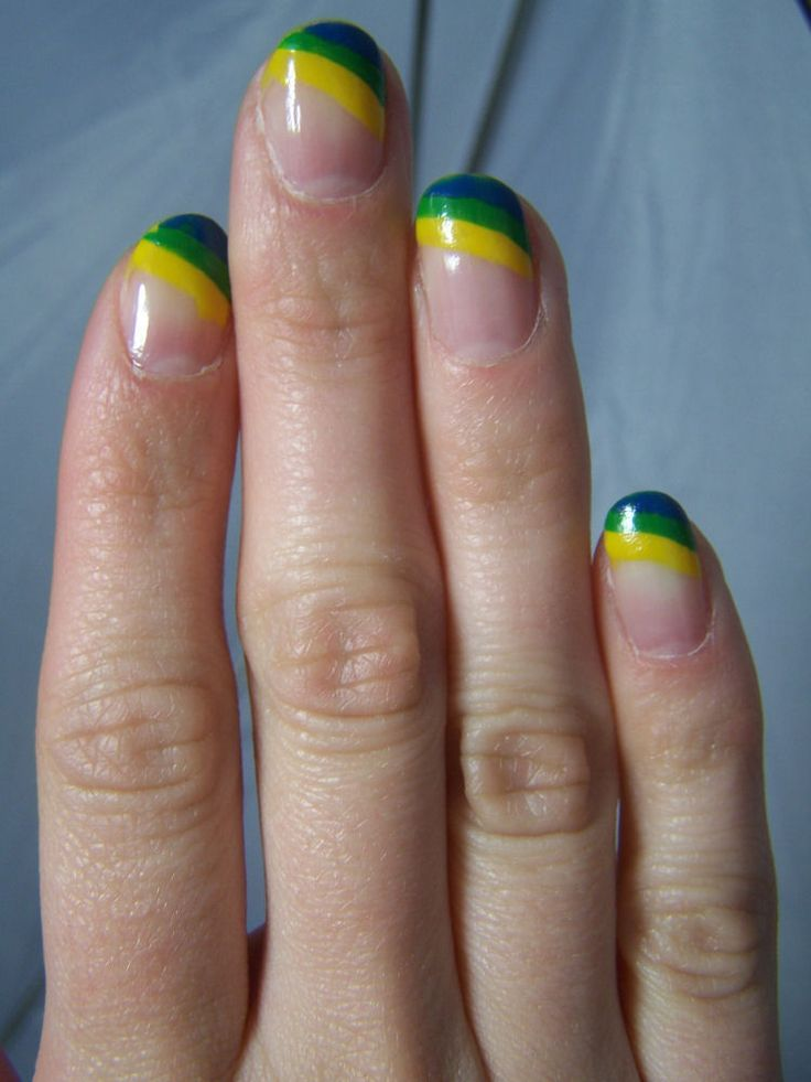 Concrete and Nail Polish: Ashley's Tri-Color French Manicure