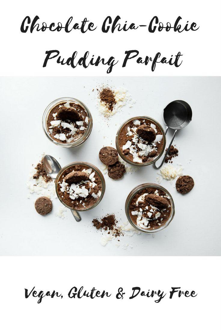 Chocolate Chia Cookie Pudding Parfait