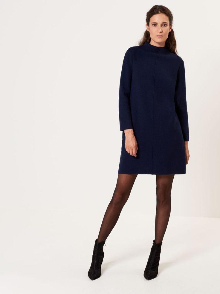 Sukienka ze swetrowej dzianiny z półgolfem, MOHITO, SL184-95X