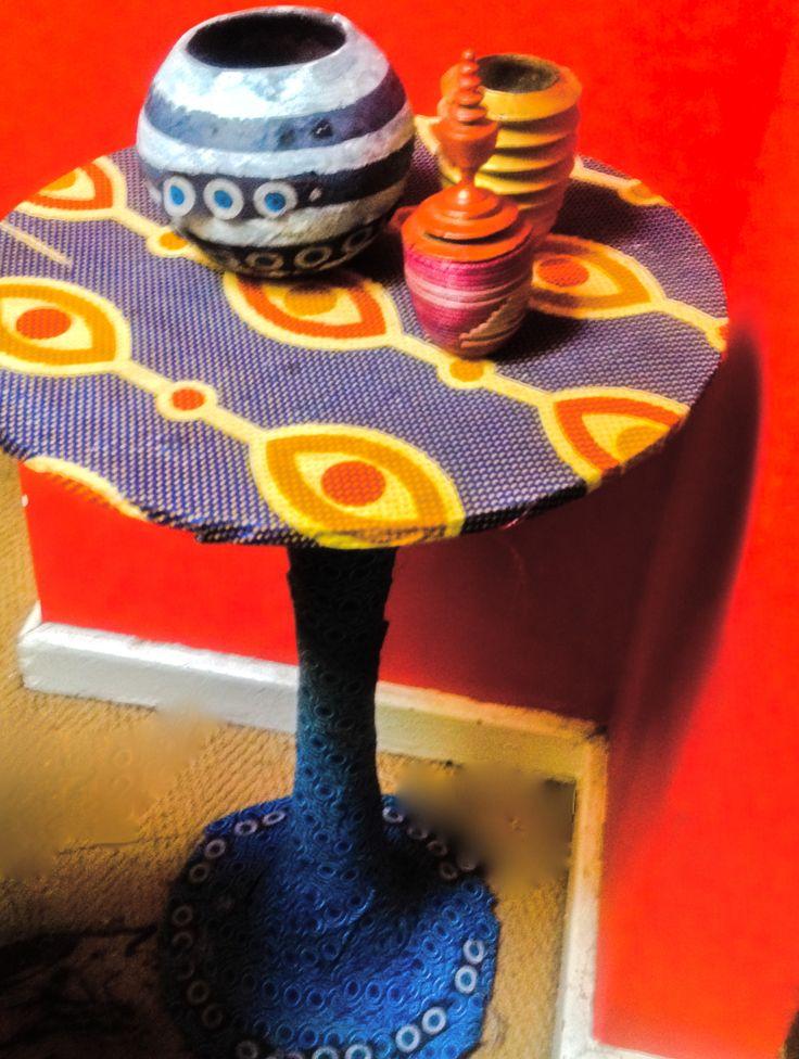 Eye & Eye Table in Waxprint and Shweshwe