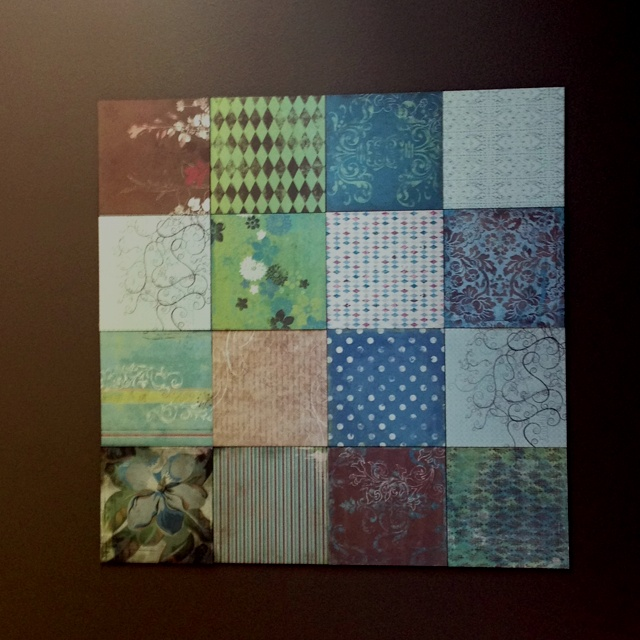 Wall Decor With Scrapbook Paper : Scrapbook paper wall art i made this too