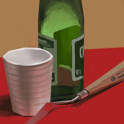 Still life digital painting