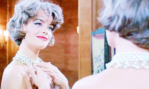 """""""""""I don't know how to make my husband understand these moods of mine."""" """" Romy Schneider as Pupe in Boccaccio '70 (segment """"Il lavoro"""")   (1962) • dir. Luchino Visconti"""