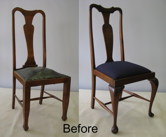 how to reupholster dining chairs 2 different ways home. Black Bedroom Furniture Sets. Home Design Ideas