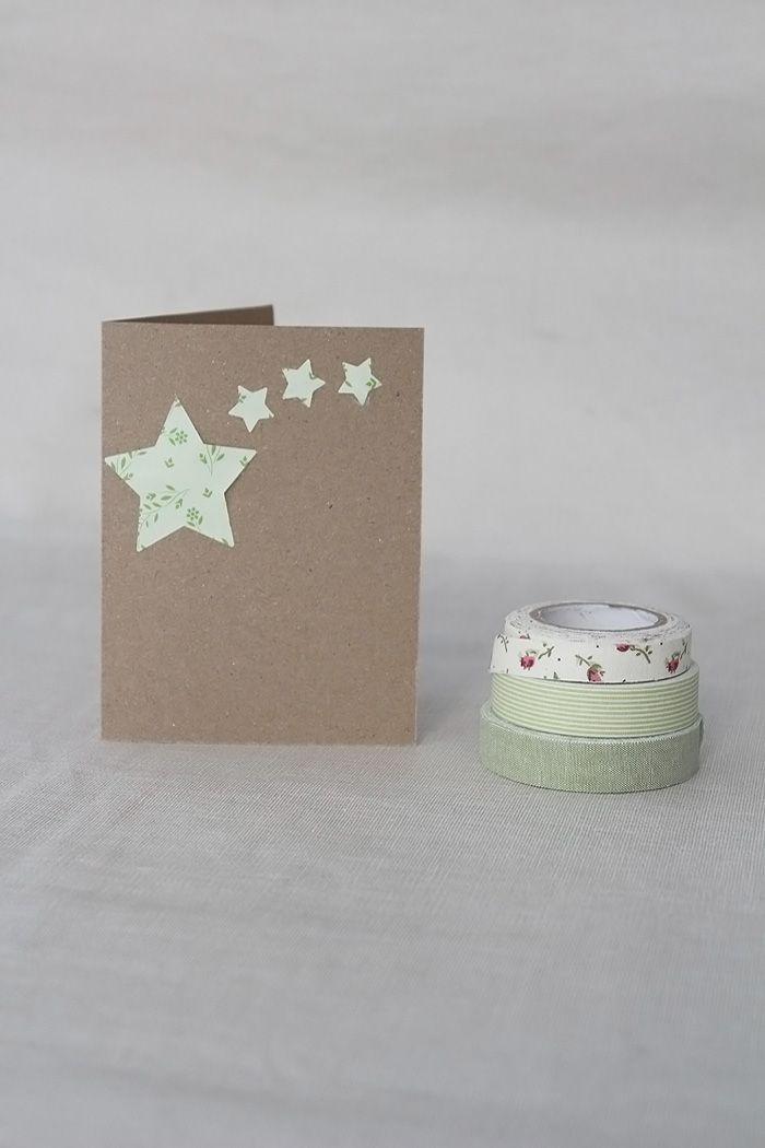Ideas de tarjetas de Navidad para hacer con niños. Manualidades con washi tape
