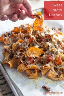 Looking for some easy Paleo Nachos made with sweet potatos? Get the recipe here and hear my first hand experience with the Mitsubishi Outlander Sport.