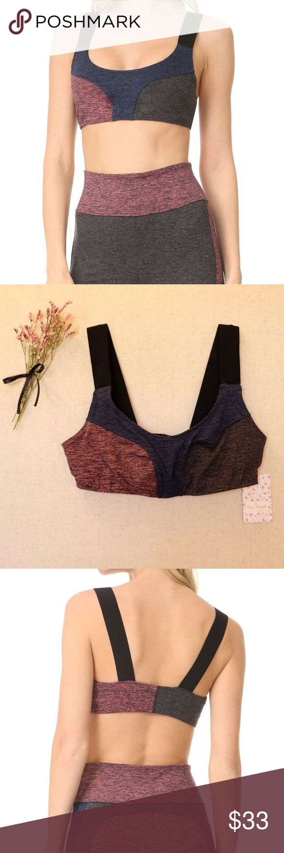 FREE PEOPLE Movement Dylan Sports Bra, Small, BNWT Brand New with Tags! Never Been Worn.  Crafted from double-brushed heathered jersey, this sports bra features a so-soft fabric with super moisture-wicking power to keep you dry during your toughest workout. Full coverage front with thick straps for stay-put support. *By FP Movement  Size: Small Color: Color Block Multi Outer Material: 87% Polyester/ 13% Spandex Lining Material: 94% Polyester/ 6% Spandex  All of my items come from a smoke…