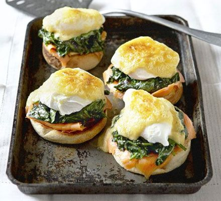 Spinach & Smoked salmon egg muffins    Serve one or two of these per person for brunch - depending on how hungry/greedy you are