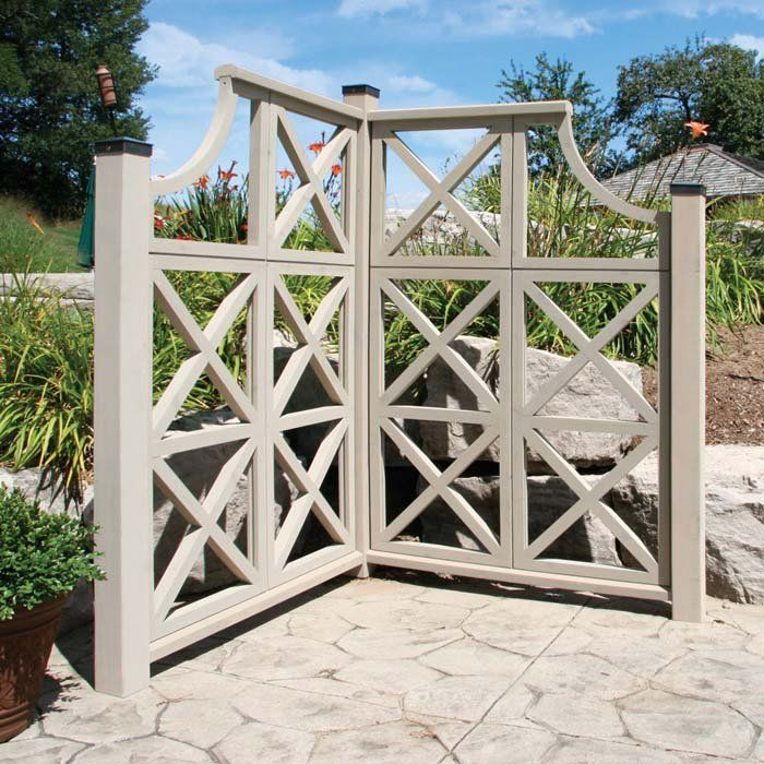 Corner garden trellis for privacy idea around the garden.
