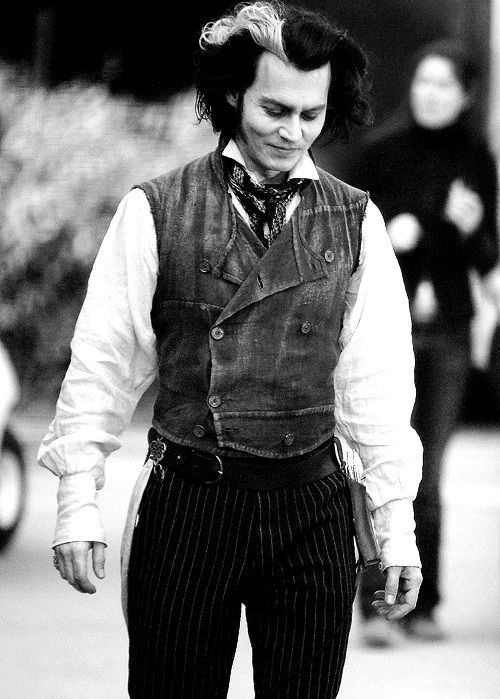 Johnny Depp's Sweeney Todd. Swing your razors wide, Sweeney!