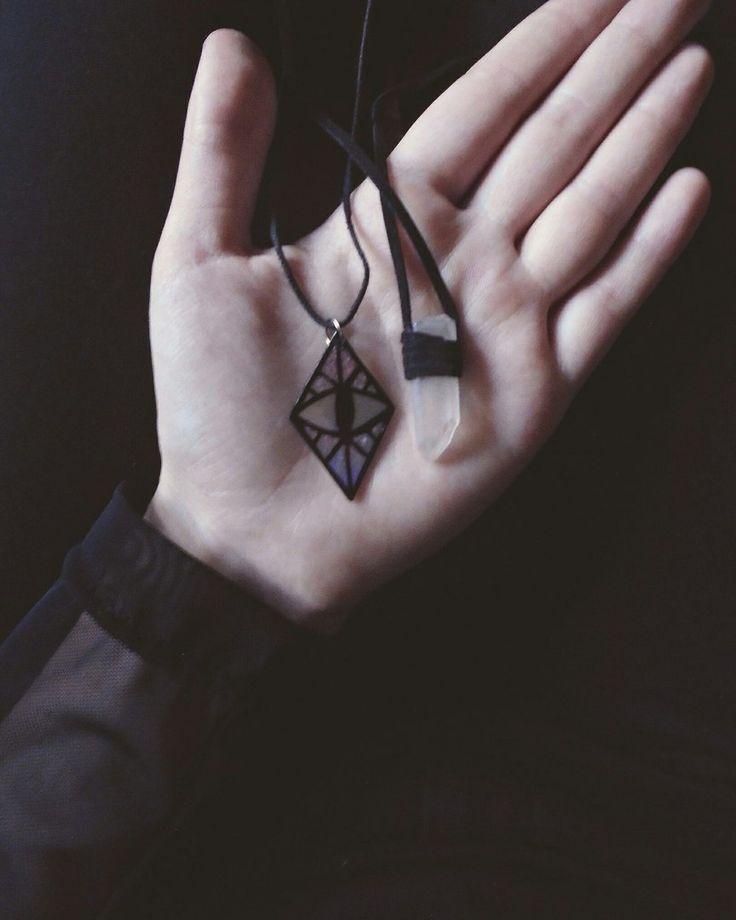 #handmade #magic #dark #boho #crystal #eye