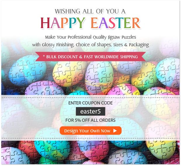 29 best new feeds discount coupon images on pinterest coupon lets enjoy the 5 off coupon on easter by designing own jigsaw puzzles fandeluxe Images