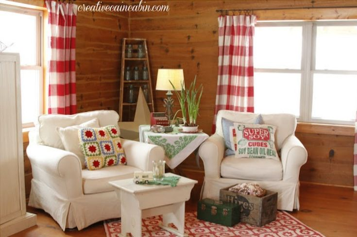 Top 25 Ideas About Red And White Curtains On Pinterest