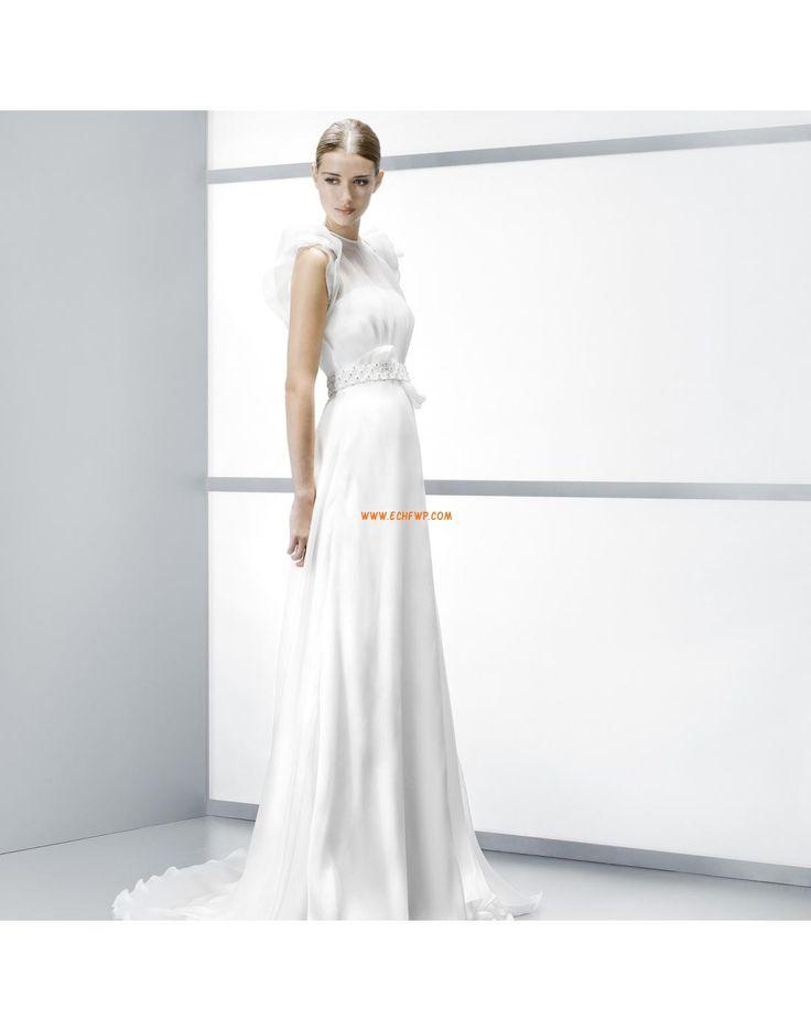 Col montant Printemps Zip Robes de mariée pas cher