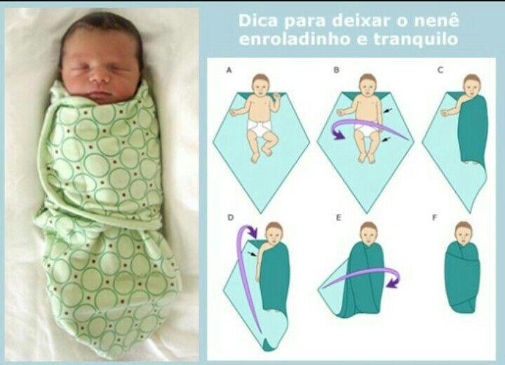Dica para deixar o bebê enroladinho e tranquilo