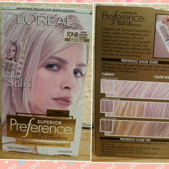 LOREAL SUPERIOR HAIRCOLOR - 10NB NATURAL BLONDE COLOR - 10NB ULTRA NATURAL BLONDE LOREAL SUPERIOR PREFERENCE FADE DEFYING COLOR AND SHINE SYSTEM KIT NEW NEW SEALED IN BOX! !!!! LOREAL Accessories