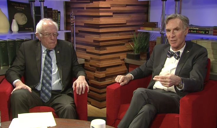If you've been looking for something with which to explain climate change to someone who thinks it doesn't exist, or perhaps you've been interested in learning more about it yourself, you now have the perfect option — this Bernie Sanders and Bill Nye