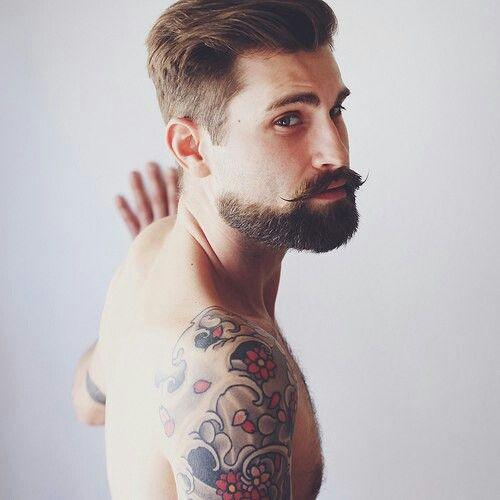 #Tattooed # bearded men