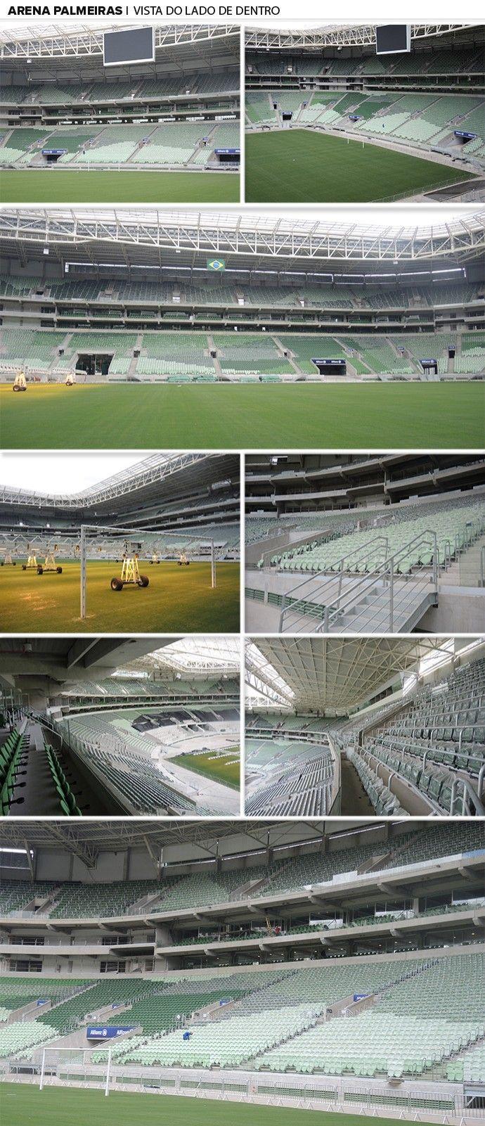 Mosaico - Arena Palmeiras vista por dentro (Foto: Editoria de arte)