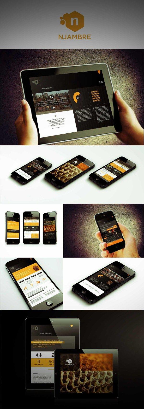 UI Design / Interactive Annual Report by Martín Liveratore, via Behance
