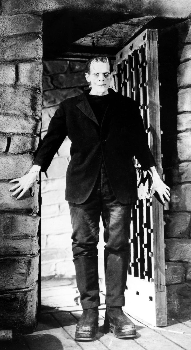 One of the greatest classic monsters of all-time. Boris Karloff as Frankenstein, 1931