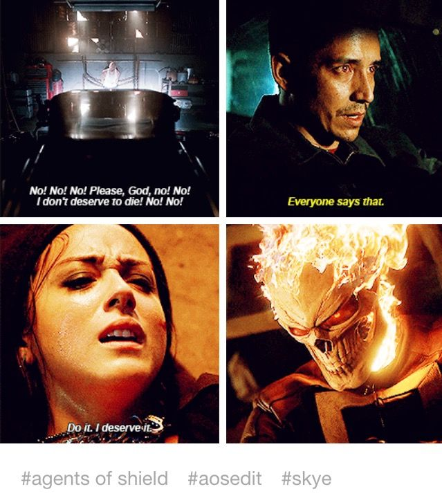 """""""Do it. I deserve it"""" - Daisy and Ghost Rider #AgentsOfSHIELD"""