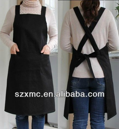 cotton and polyester blend waiter staff uniforms for restaurant hotel and bar cooking and baking TC fabric apron $0.31~$9.9