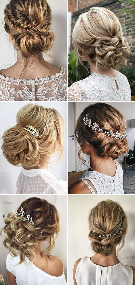 Loose Updo Bridal & Wedding Hairstyle Ideas #weddings #hairstyles #weddingideas