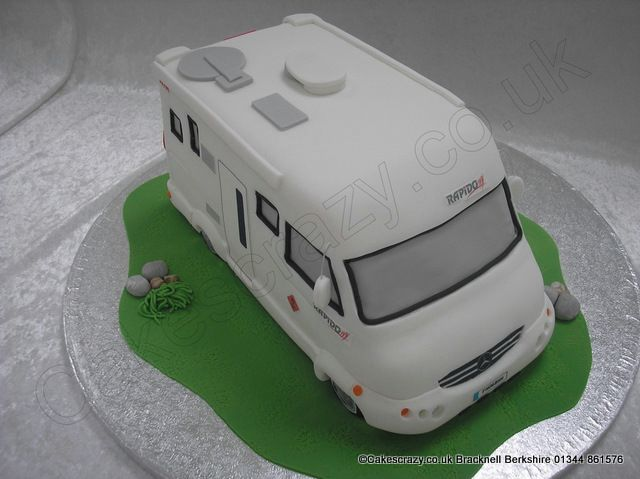 Simple White And Blue RV CakeJPG 1 Comment