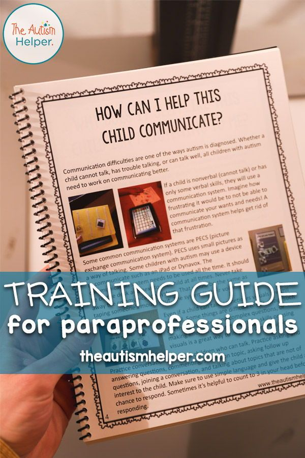 Paraprofessional Training Manual | ABA  (Autism) | Special