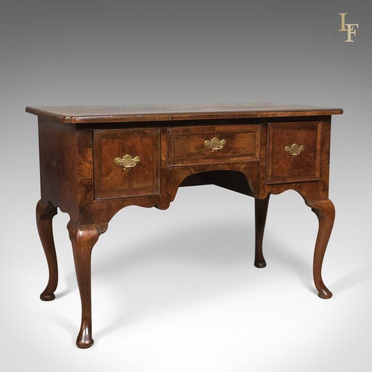 Antique Lowboy, English, Late Georgian, Walnut, Desk, Table c.1800